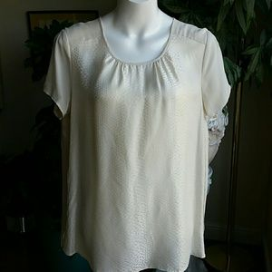 Kenar off white top size Large
